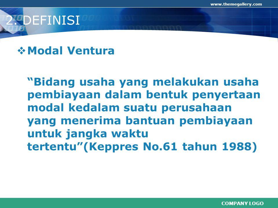 COMPANY LOGO www.themegallery.com 11.Alasan Modal Ventura Belum Berkembang.