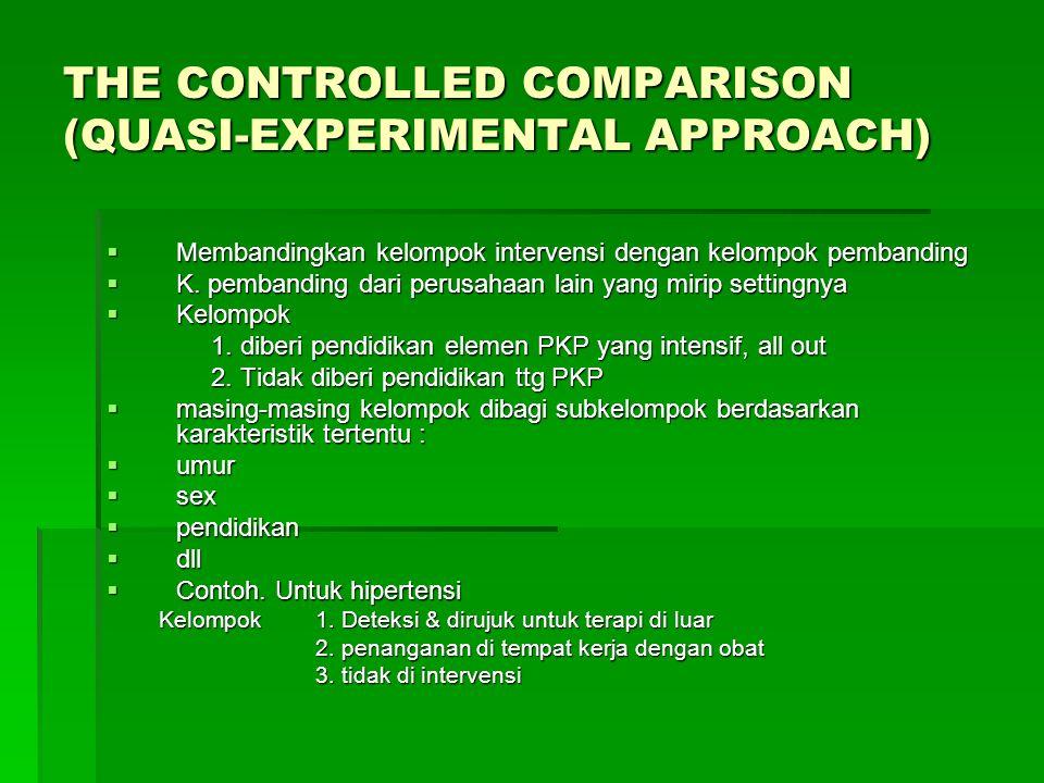 COMPARATIVE APPROACH  Menggunakan data & format eks sebagai pembanding/standar evaluasi.