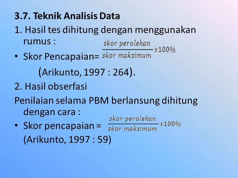 3.7.Teknik Analisis Data 1.