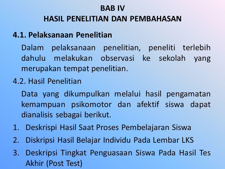 BAB IV HASIL PENELITIAN DAN PEMBAHASAN 4.1.