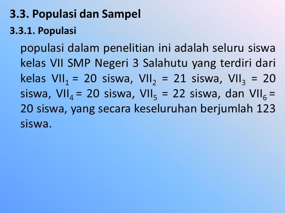 3.3.Populasi dan Sampel 3.3.1.
