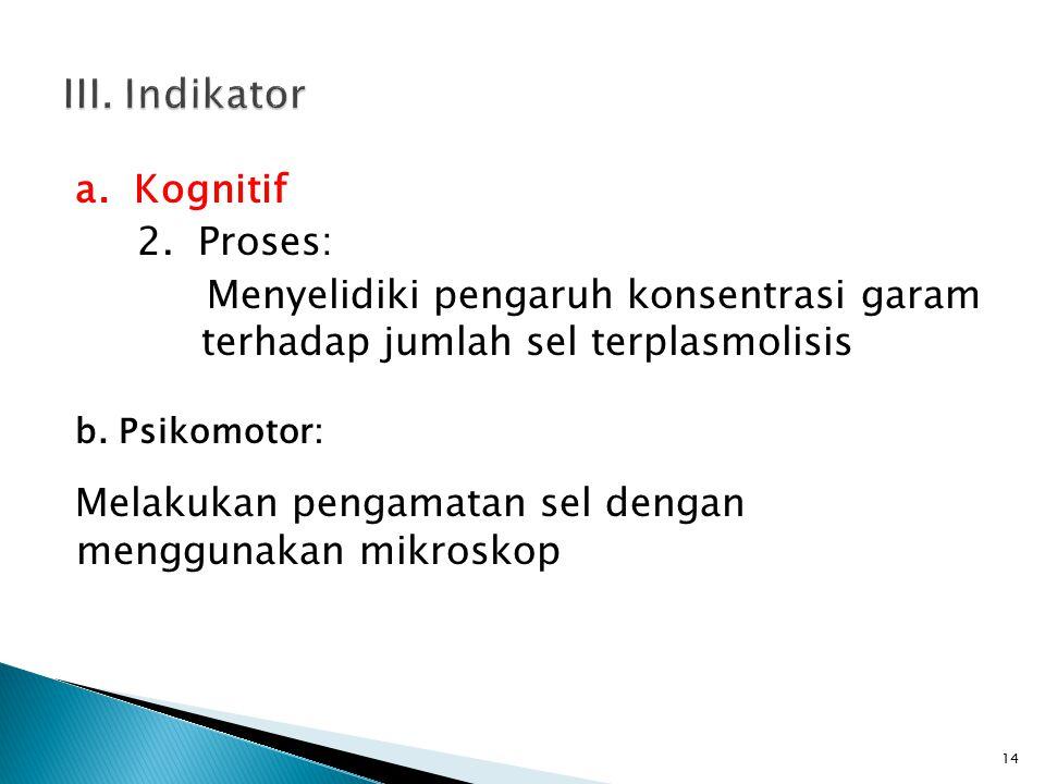 a. Kognitif 2.