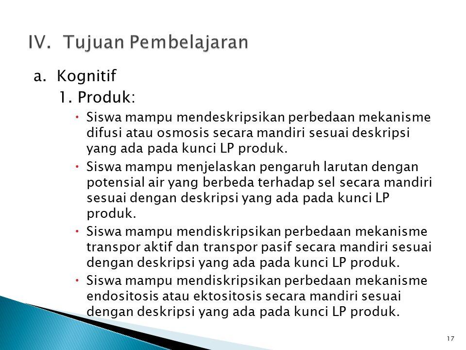 a. Kognitif 1.