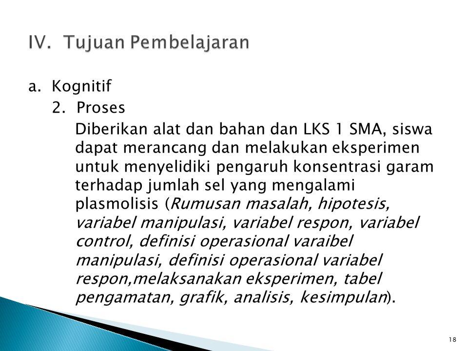 a.Kognitif 2.