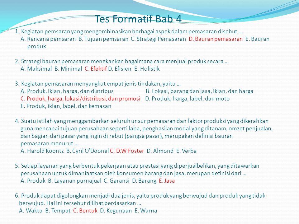 Tes Formatif Bab 4 1.