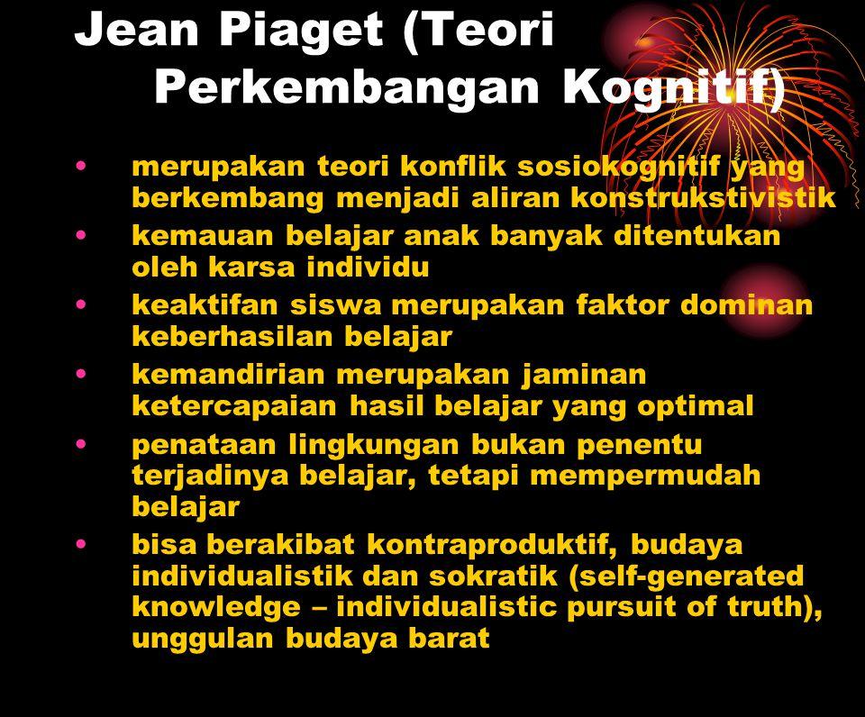 Jean Piaget (Teori Perkembangan Kognitif)  merupakan teori konflik sosiokognitif yang berkembang menjadi aliran konstrukstivistik kemauan belajar ana