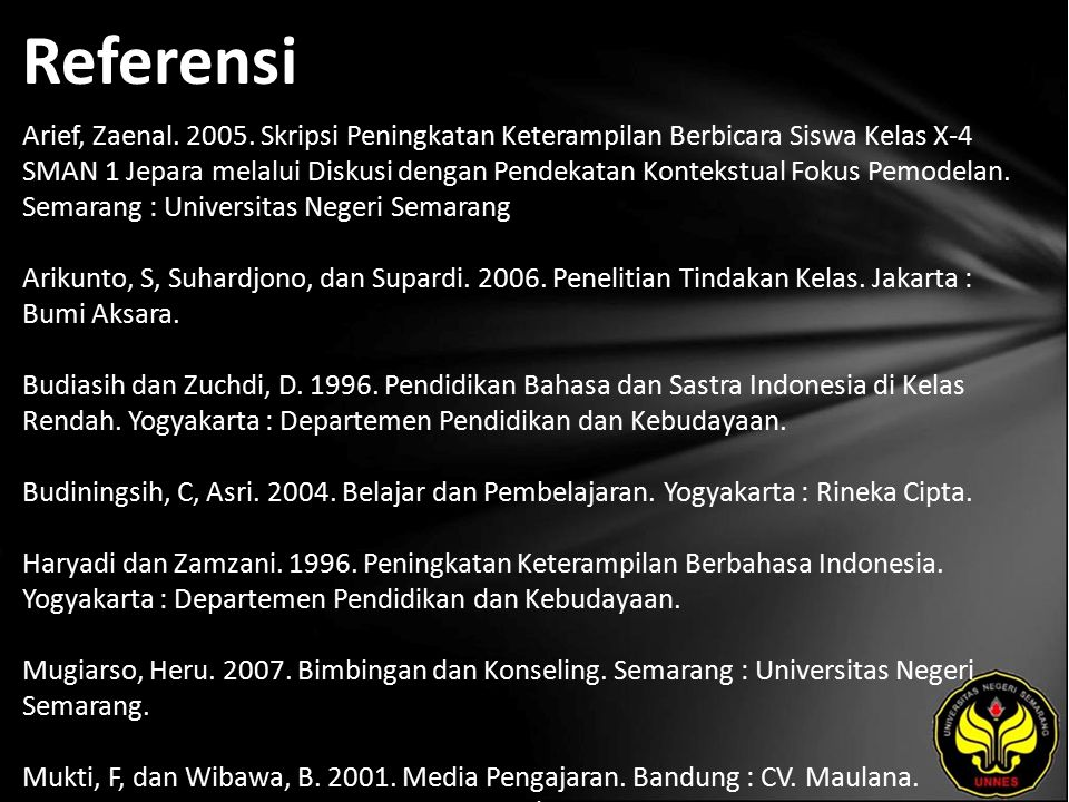 Referensi Arief, Zaenal.2005.
