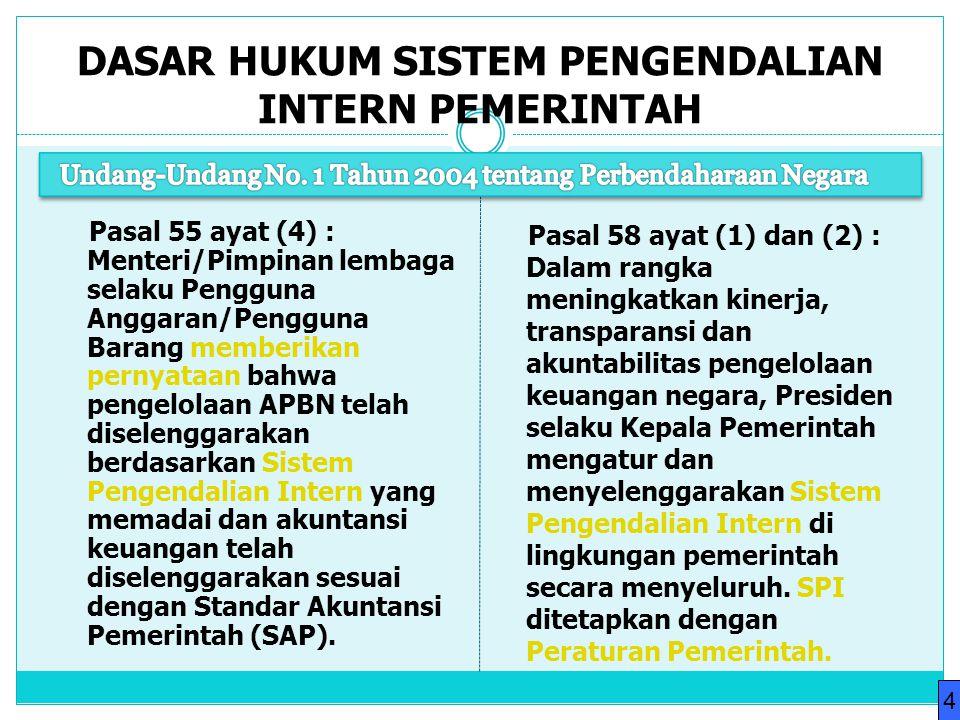 Pasal 55 ayat (4) : Menteri/Pimpinan lembaga selaku Pengguna Anggaran/Pengguna Barang memberikan pernyataan bahwa pengelolaan APBN telah diselenggarak