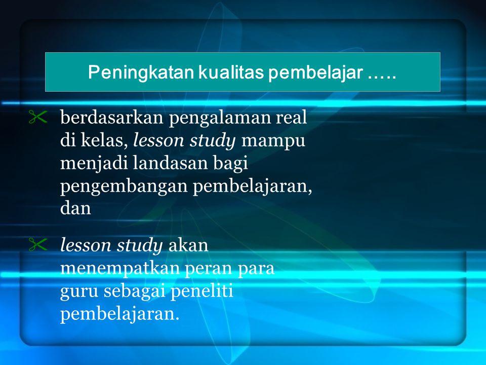 MENGAPA LESSON STUDY PERLU DIIMPLEMENTASIKAN.
