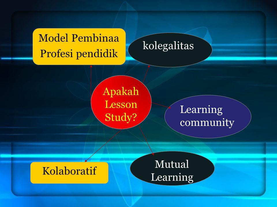 Apakah Lesson Study? Model Pembinaa Profesi pendidik kolegalitas Kolaboratif Mutual Learning Learning community