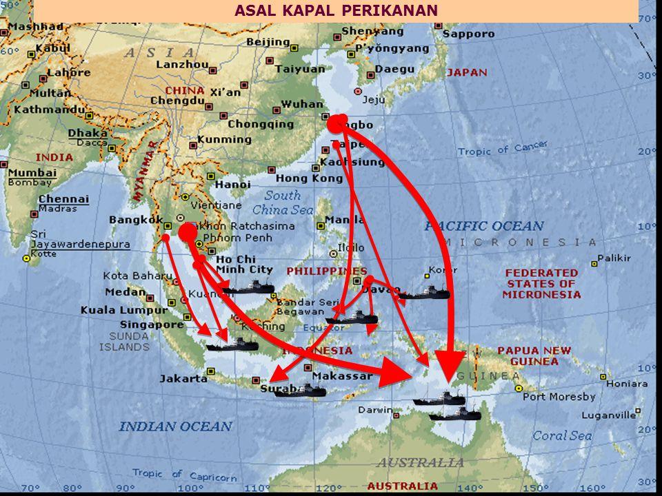 KIA berbendera Indonesia beroperasi secara ilegal, di WPP- NRI dan/atau di Laut Lepas Pemalsuan Dokumen (dua kapal perikanan dengan nama dan nomorlambung yang sama)