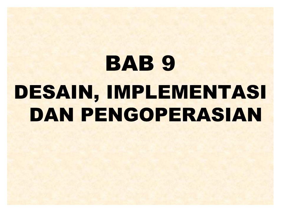 DESKRIPSI ASPEK IMPLEMENTASI Perencanaan implementasi mencakup: Penentuan tugas implementasi.