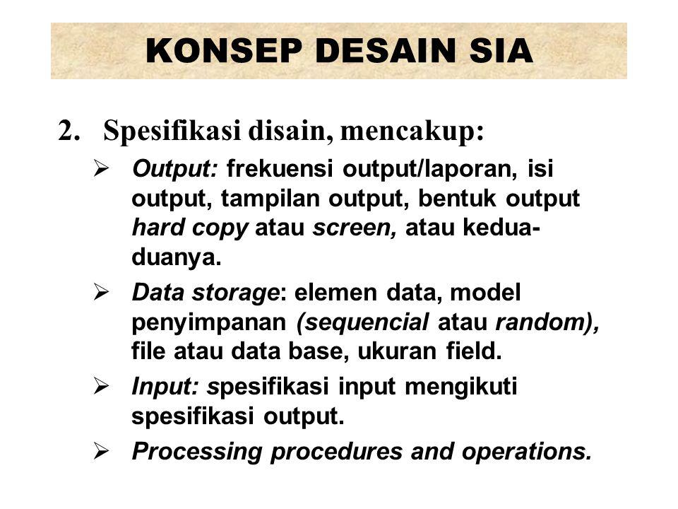PERANCANGAN FISIK SISTEM 5.Procedures design, adalah penentuan tentang:  Siapa pengguna sistem  Apa yang harus dikerjakan  Kapan mengerjakannya  Di mana mengerjakannya  Bagaimana mengerjakannya Prosedur bisa dalam bentuk manual sistem, instruksi untuk user, bahan training, atau on-line help screens.