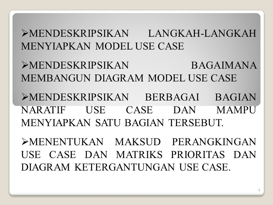 25 CONTOH: ABSTRACT USE CASE USE CASE >