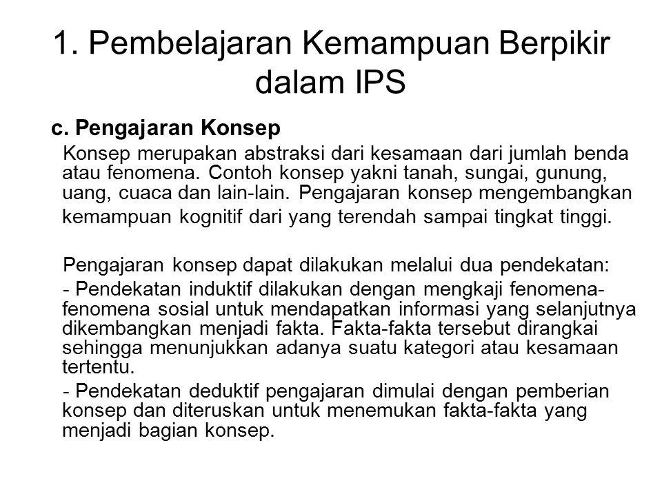 2.Pembelajaran Kemampuan Proses dalam IPS a.