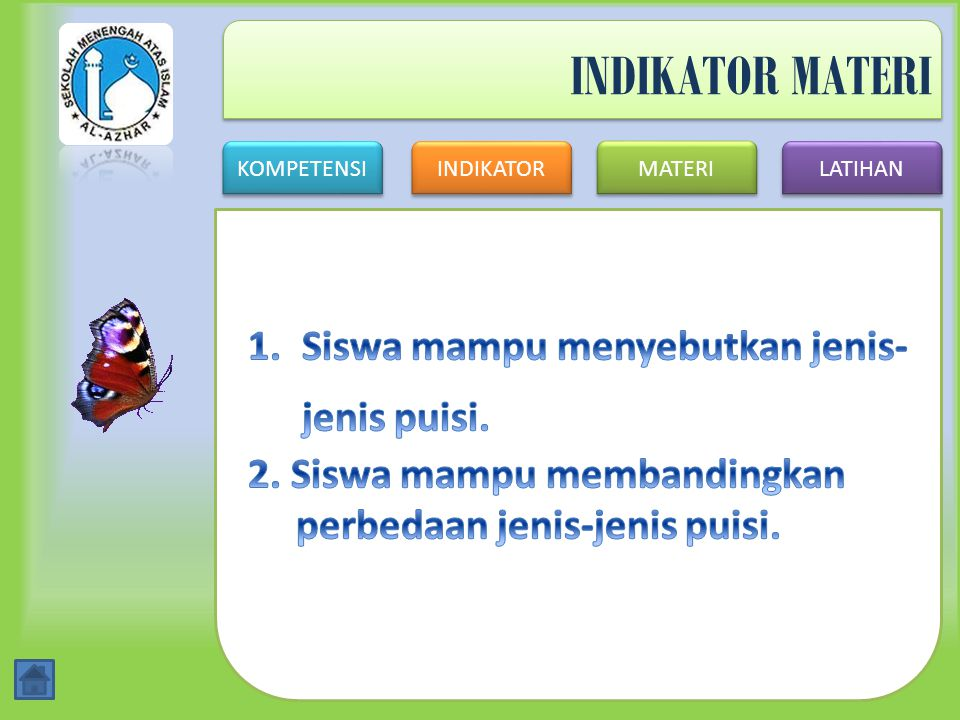 KOMPETENSI INDIKATOR MATERI LATIHAN Jawaban No. 5