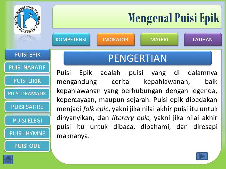KOMPETENSI INDIKATOR MATERI LATIHAN SMA ISLAM AL-AZHAR 6 SERANG Jalan Raya Jakarta Km 4 Pakupatan Serang (0254) 284764 SEKIAN TERIMA KASIH