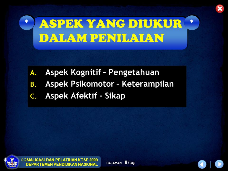 SOSIALISASI DAN PELATIHAN KTSP 2009 DEPARTEMEN PENDIDIKAN NASIONAL HALAMAN 9/29 No Kel.