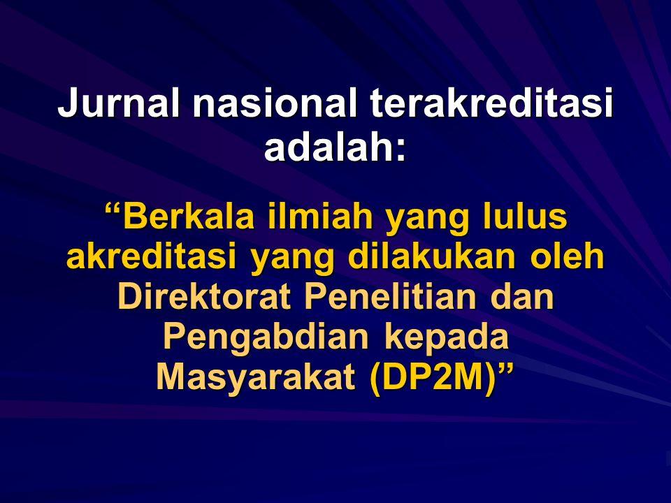Apakah jurnal nasional terakreditasi?