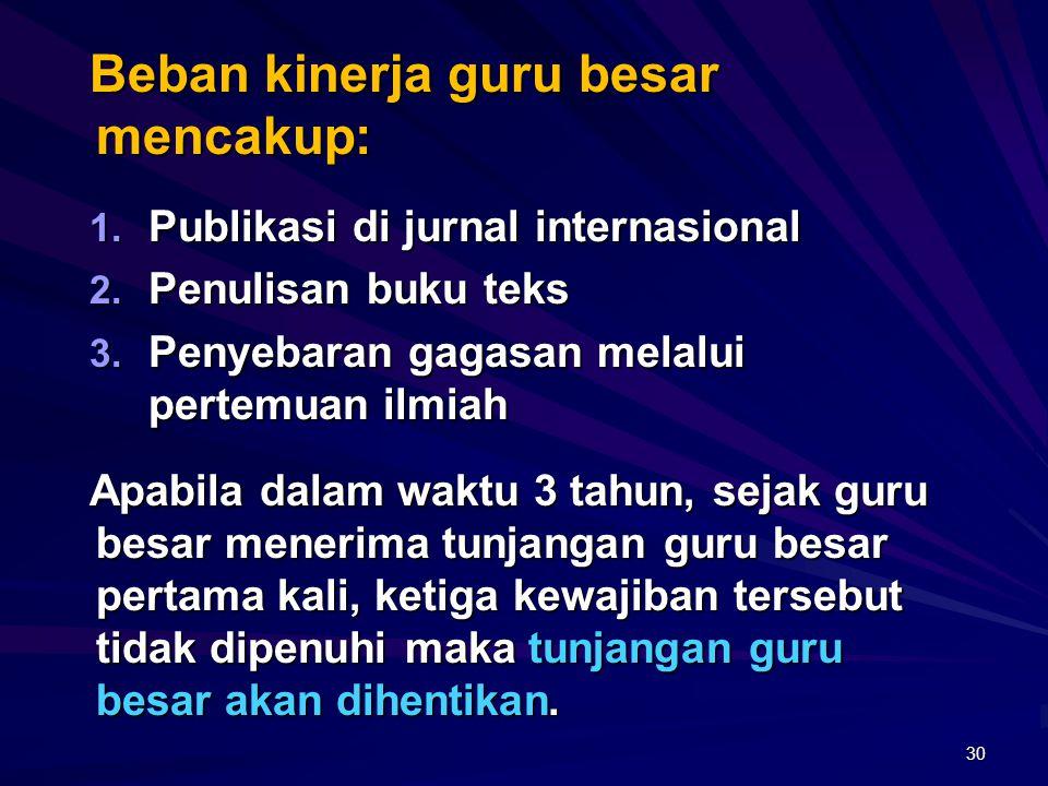 Pada saat ini: Jurnal internasional merupakan salah satu komponen yang wajib ada untuk akreditasi institusi. Di masa yang akan datang: Artikel jurnal