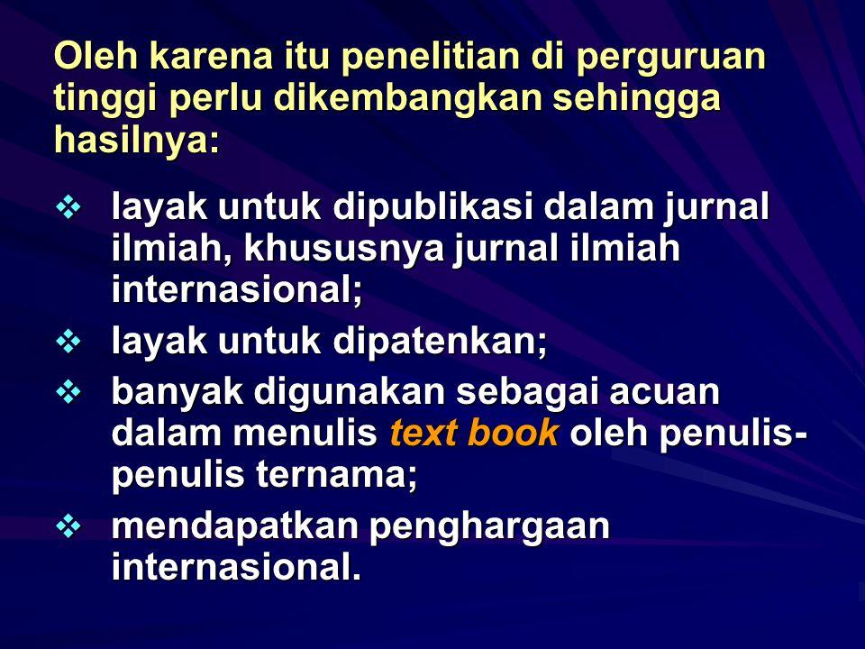 Apakah sumber dari artikel jurnal yang dapat dimuat dalam jurnal internasional dan jurnal nasional terakreditasi?