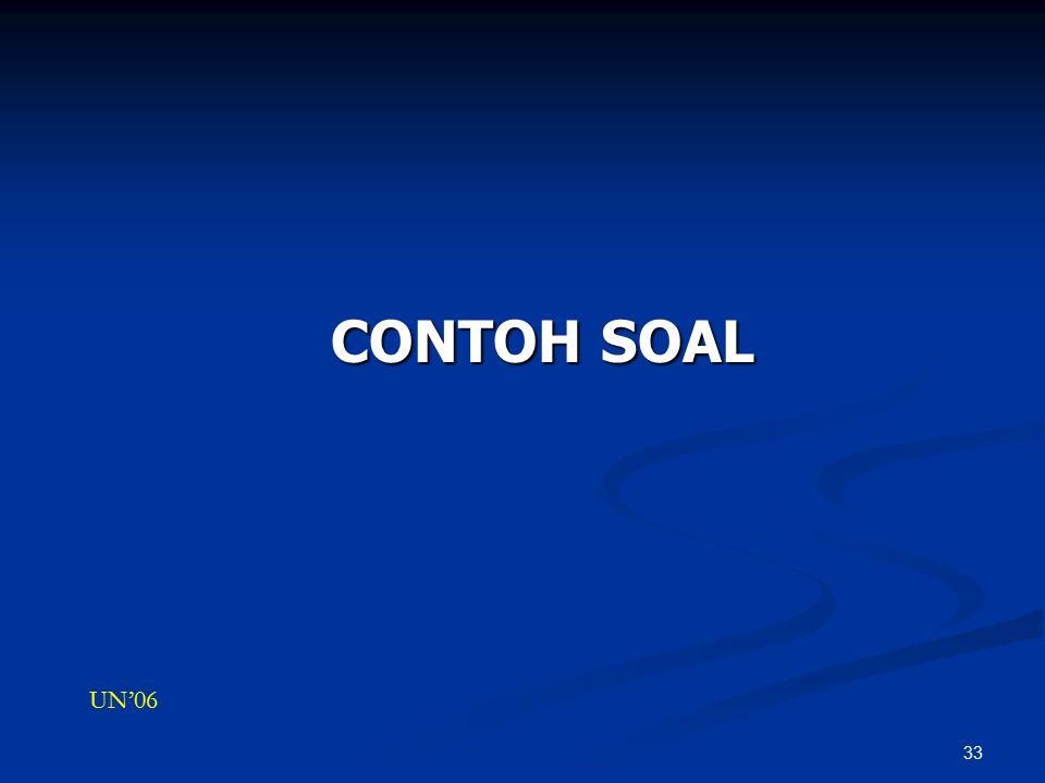 33 CONTOH SOAL UN'06