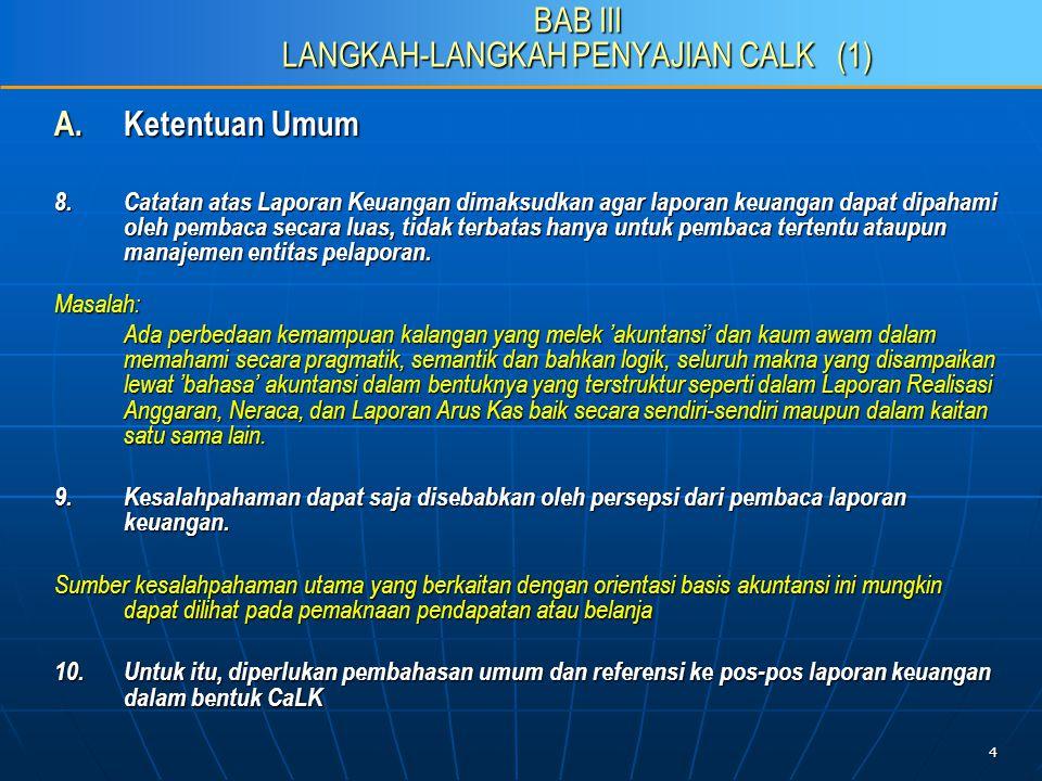 15 C.Penyusunan CaLK sesuai Pragaraf-paragraf PSAP 04 21.