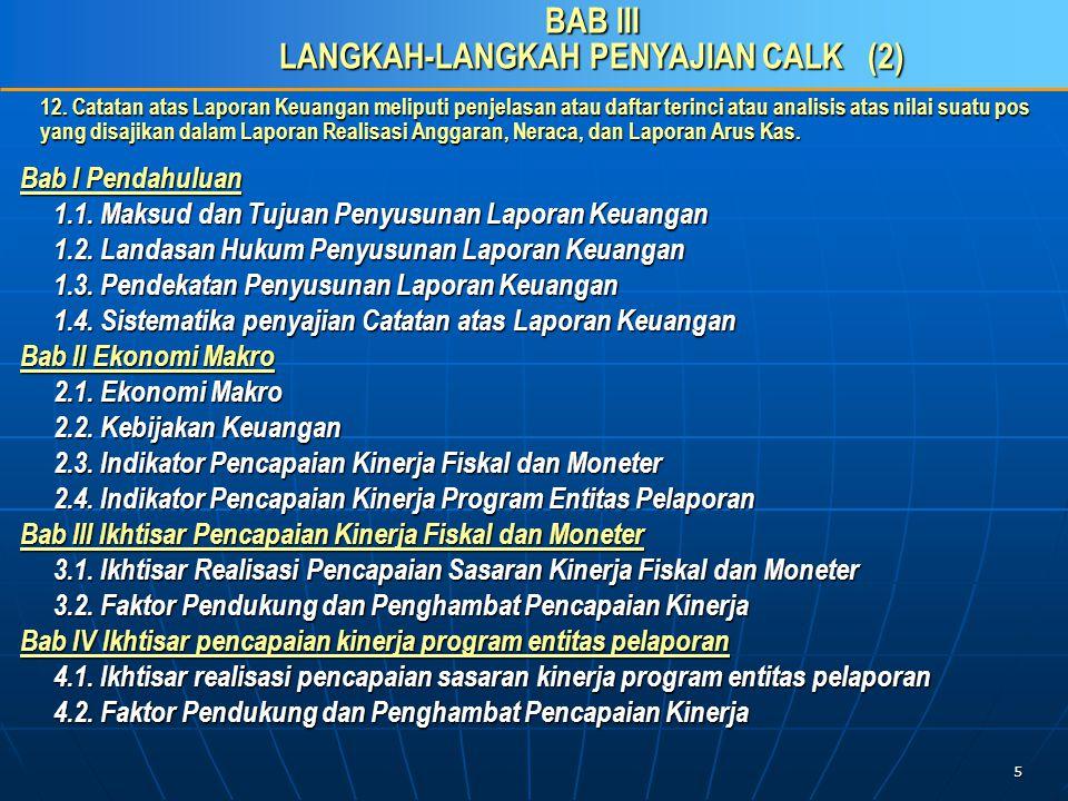 16 C.Penyusunan CaLK sesuai Pragaraf-paragraf PSAP 04 27.