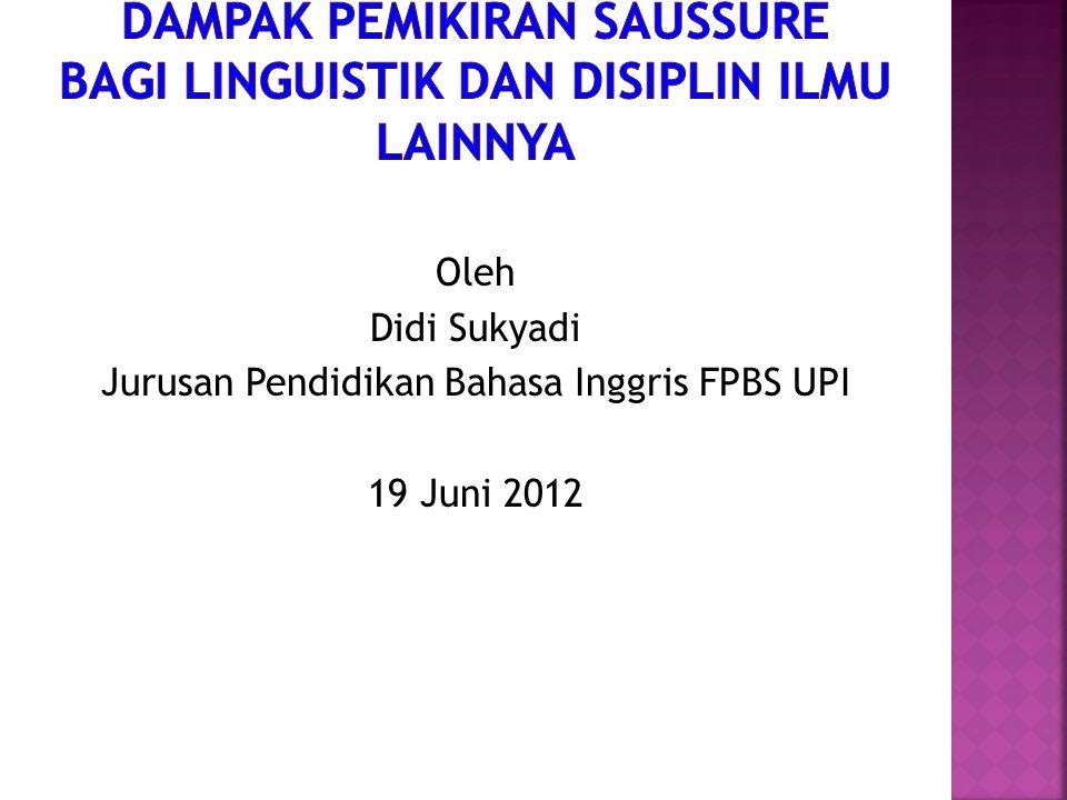 Oleh Didi Sukyadi Jurusan Pendidikan Bahasa Inggris FPBS UPI 19 Juni 2012