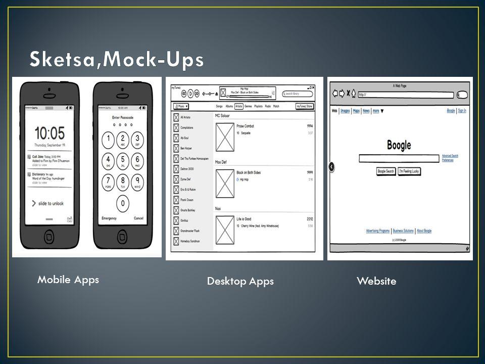 Mobile Apps Desktop AppsWebsite