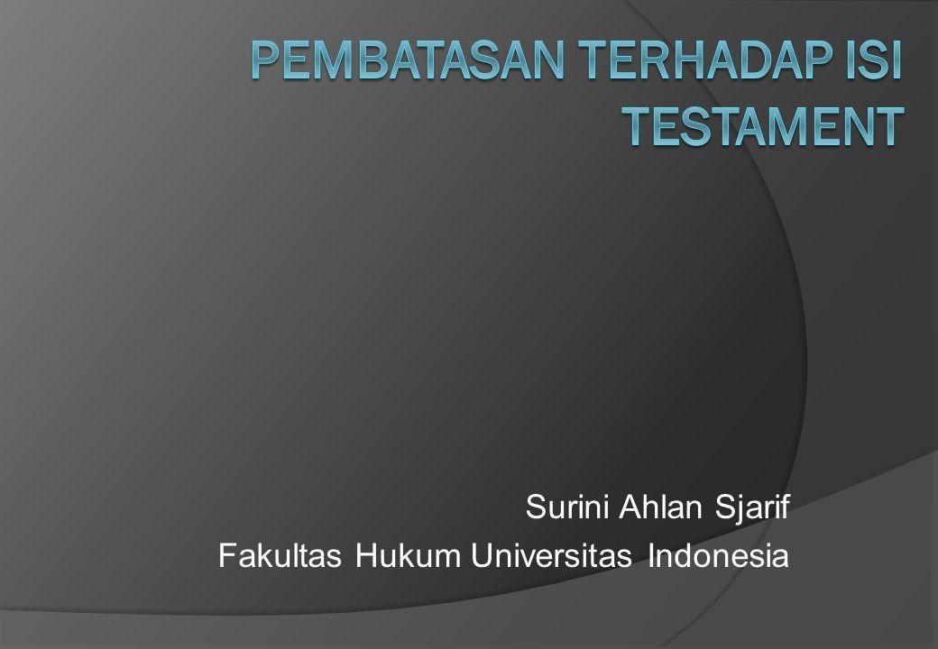 Surini Ahlan Sjarif Fakultas Hukum Universitas Indonesia