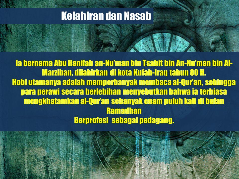 Belajar dari Biografi Para Imam Besar Belajar Selama 18 tahun penuh, Abu Hanifah menimba ilmu dari gurunya; Syaikh Hammad bin Abi Sulaiman (Bashrah), saat itu ia masih berusia 22 tahun.