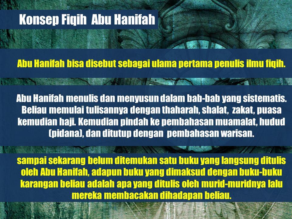 Belajar dari Biografi Para Imam Besar Konsep Fiqih Abu Hanifah Abu Hanifah bisa disebut sebagai ulama pertama penulis ilmu fiqih.