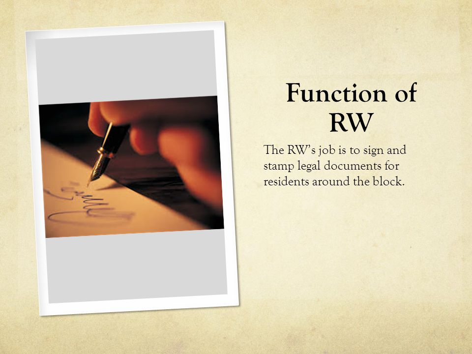 Function of RT The RT's job is to give and keep new forms for people who wants to make legal forms.