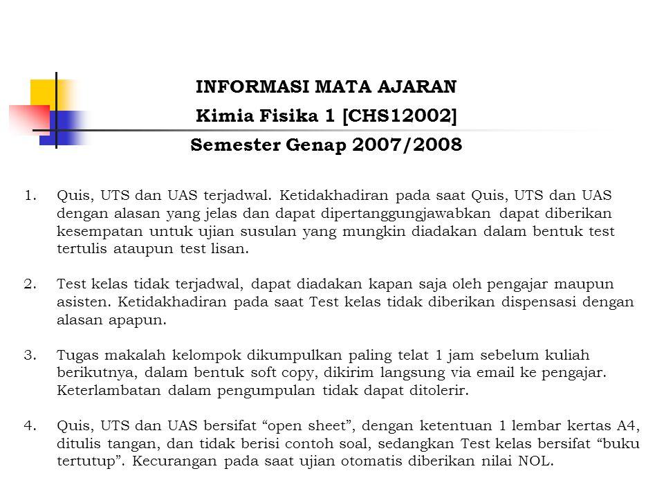 1.Quis, UTS dan UAS terjadwal.