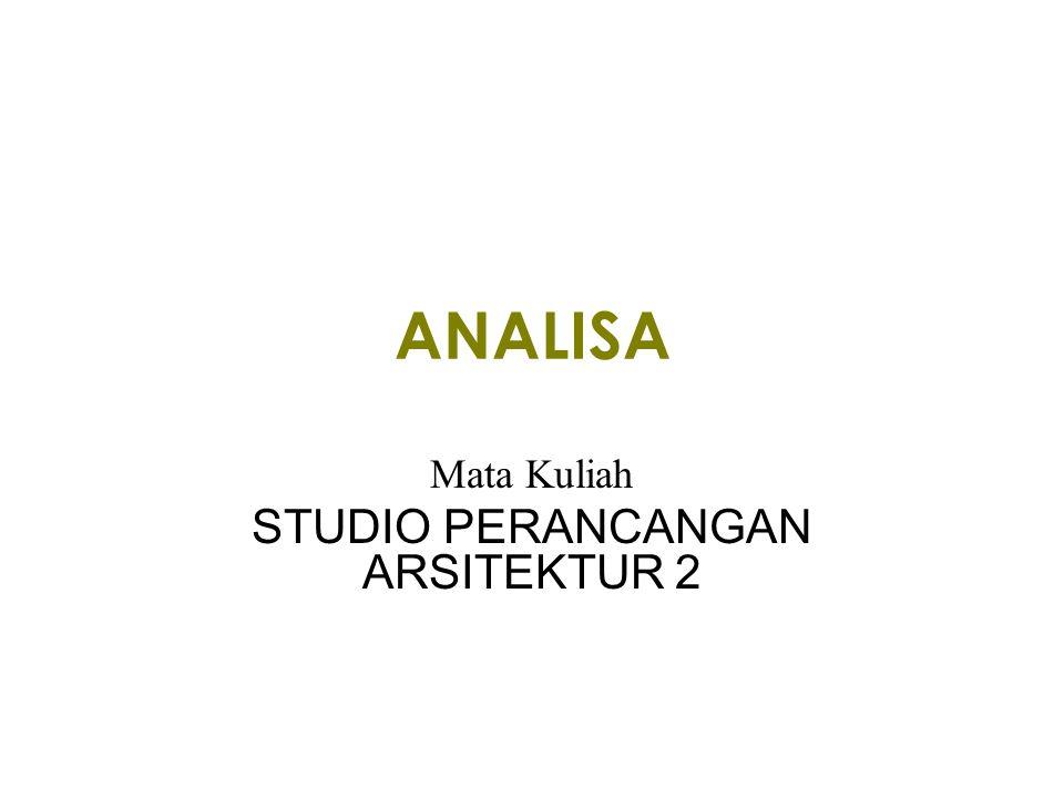 ANALISA Mata Kuliah STUDIO PERANCANGAN ARSITEKTUR 2