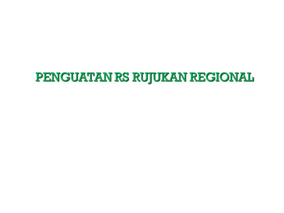 PENGUATAN RS RUJUKAN REGIONAL