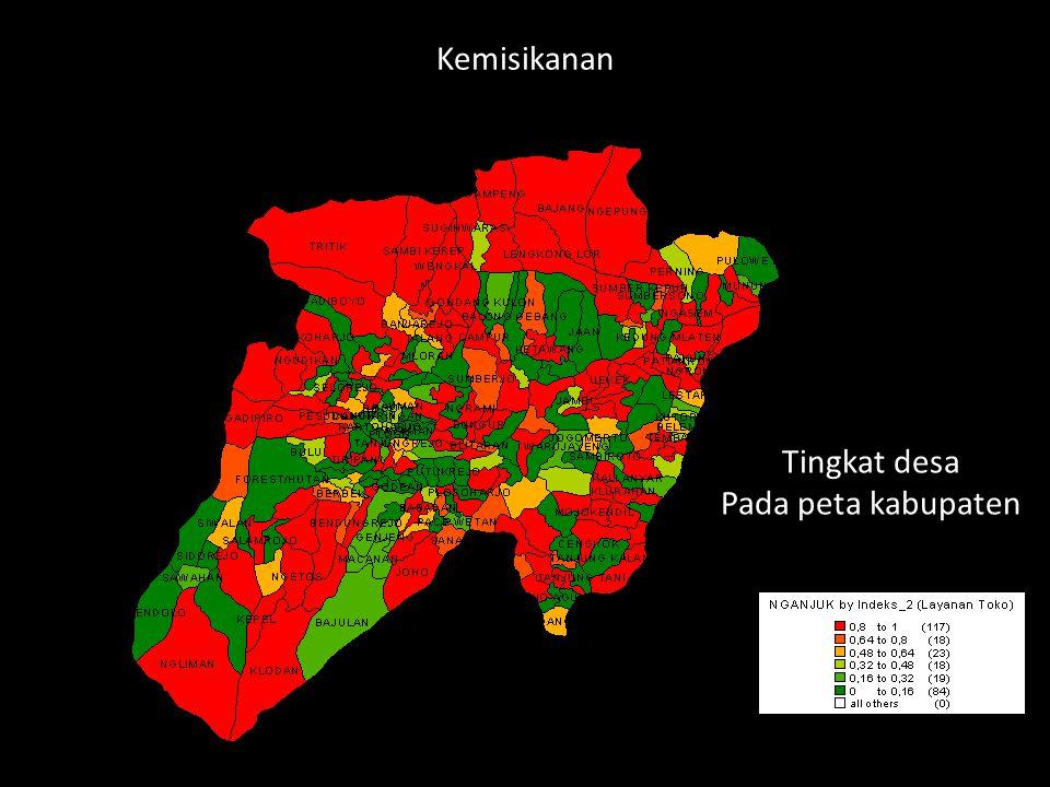 Kemisikanan Tingkat desa Pada peta kabupaten