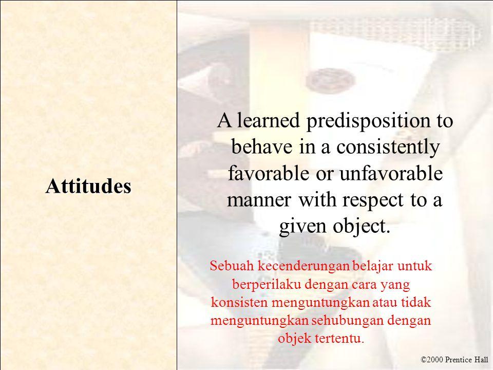 ©2000 Prentice Hall What are Attitudes.