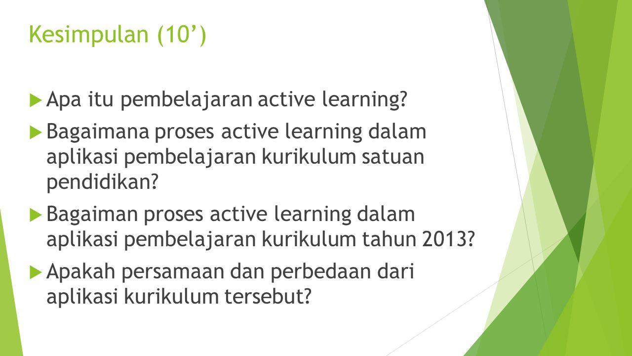 Analisis kegiatan yang ada dalam video (20') 1. Klasifikasikan mana yang termasuk dalam mengamati, menanya,mengumpulkan informasi, asosiasi/mengolah i