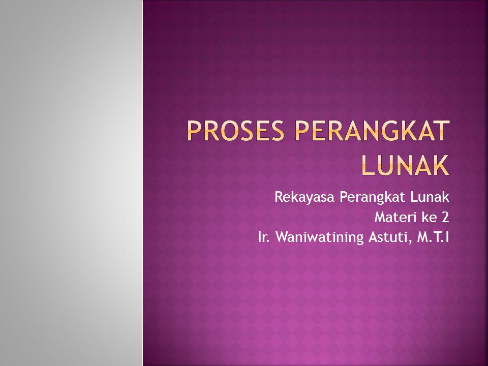 Rekayasa Perangkat Lunak Materi ke 2 Ir. Waniwatining Astuti, M.T.I