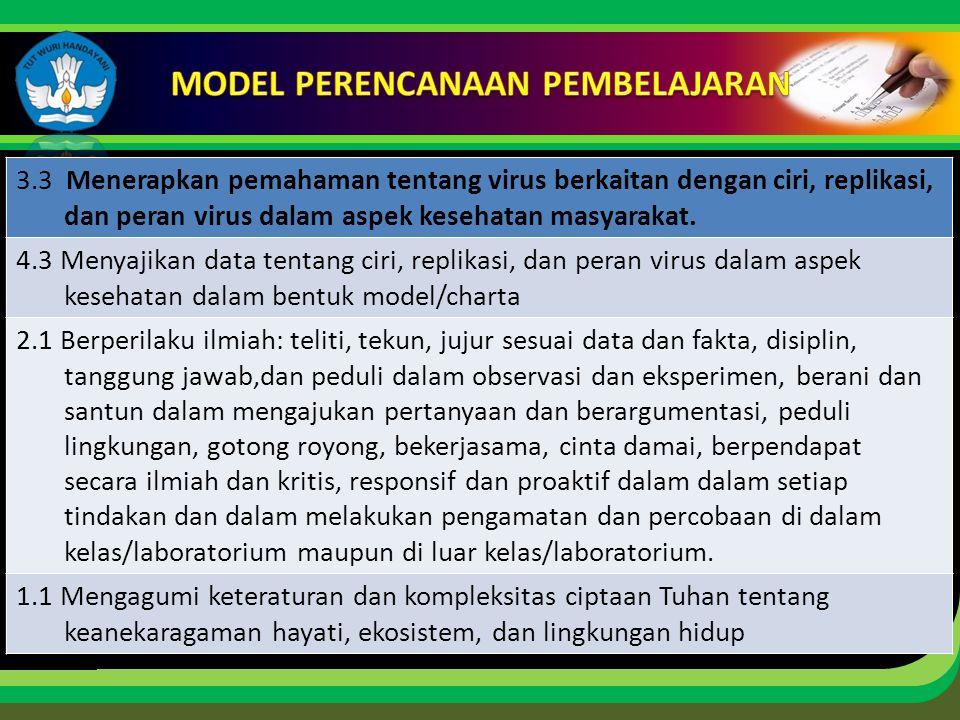 Click to edit Master title style 3.3 Menerapkan pemahaman tentang virus berkaitan dengan ciri, replikasi, dan peran virus dalam aspek kesehatan masyarakat.