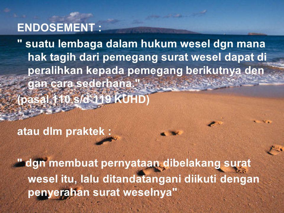 ENDOSEMENT :
