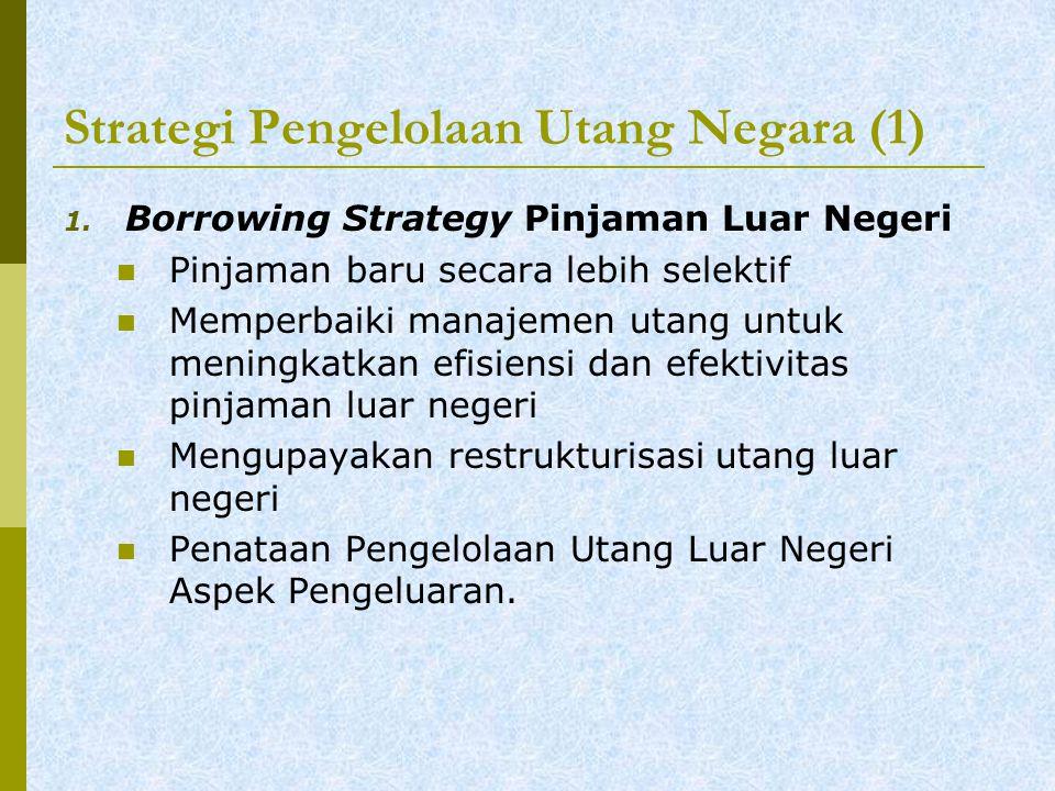 Strategi Pengelolaan Utang Negara (1) 1.