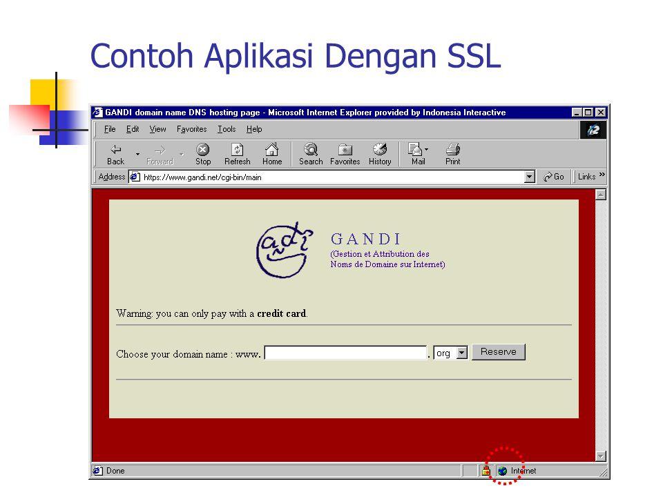 Contoh Aplikasi Dengan SSL