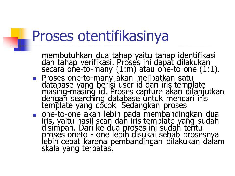 Proses otentifikasinya membutuhkan dua tahap yaitu tahap identifikasi dan tahap verifikasi.