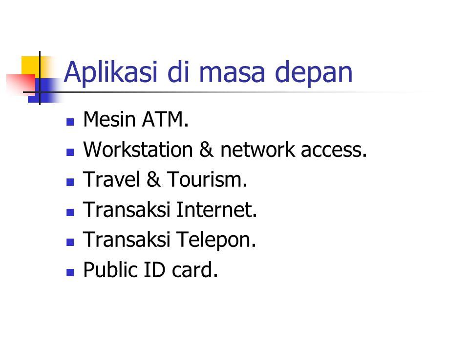Aplikasi di masa depan Mesin ATM.Workstation & network access.