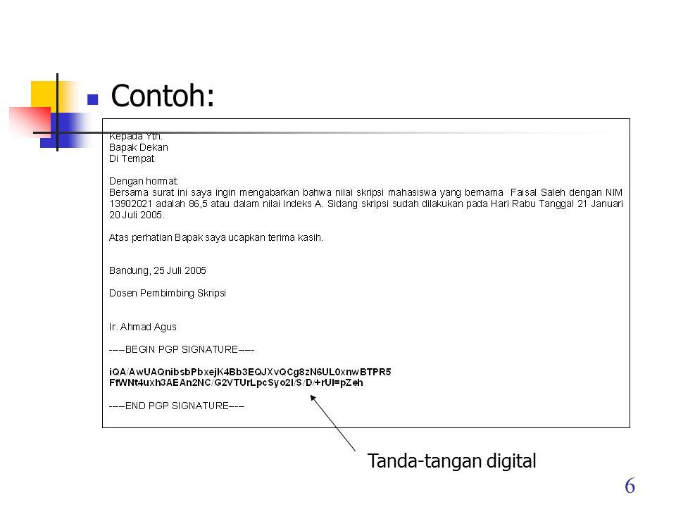 6 Contoh: Tanda-tangan digital