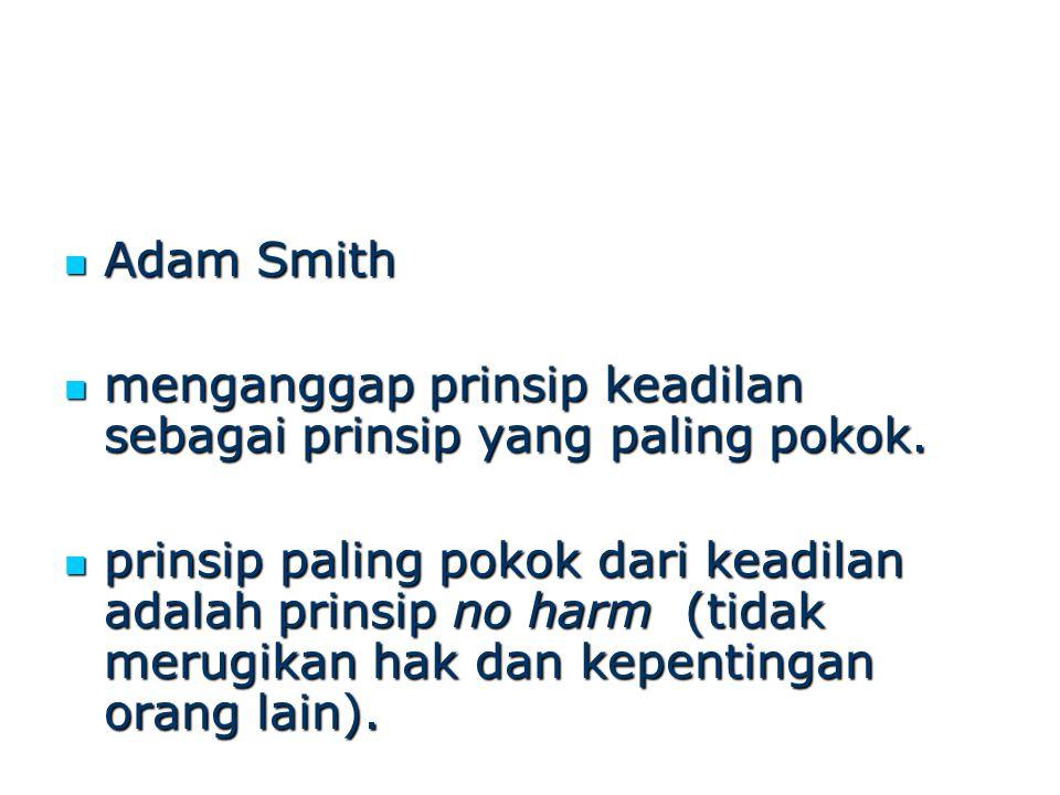 Adam Smith Adam Smith menganggap prinsip keadilan sebagai prinsip yang paling pokok. menganggap prinsip keadilan sebagai prinsip yang paling pokok. pr