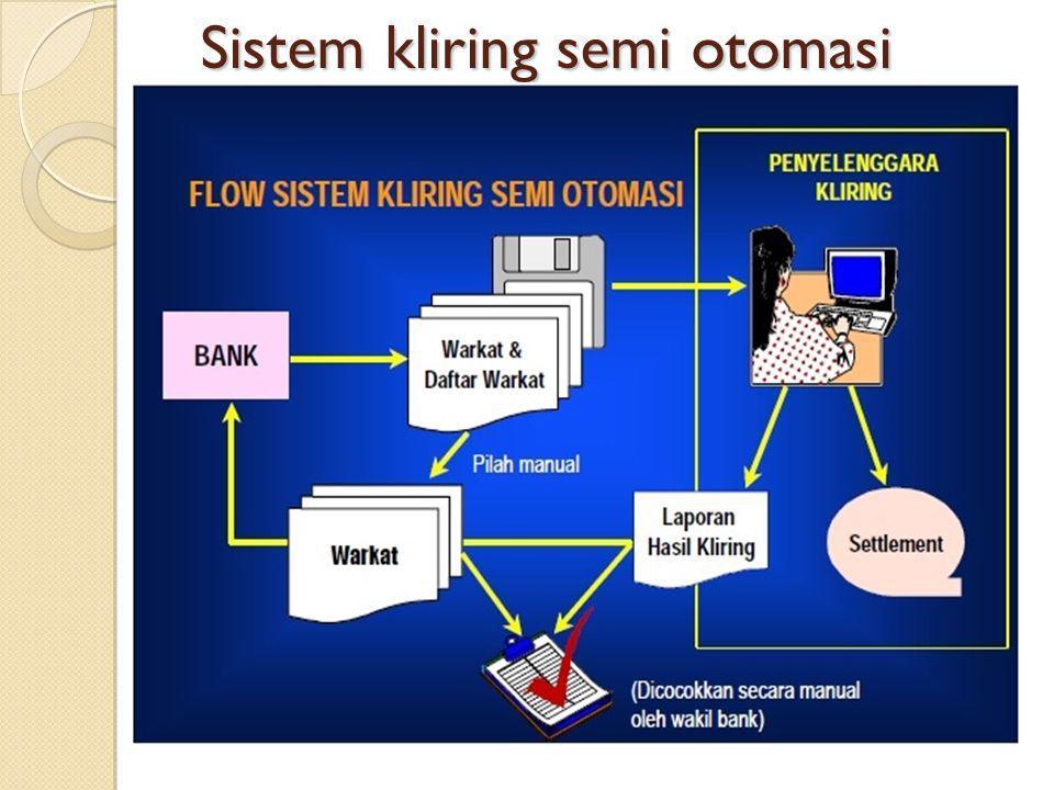 Sistem kliring semi otomasi